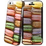 i-Paint 110502 Coque rigide + Autocollant + Film de Protection d'écran pour iPhone 5/5S Motif Macarones