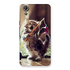 Gorgeous Dancing Cute Cat Back Case Cover for Micromax Canvas Selfie Lens Q345
