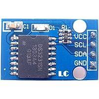 fgyhtyjuu Módulo DS3231 Chips I2C RTC CII Alta precisión de Hora Reloj en Tiempo Real con Asiento CR1220 Parche de batería