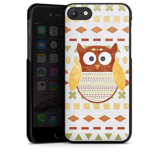 Apple iPhone X Silikon Hülle Case Schutzhülle Eule Muster Owl Hard Case schwarz