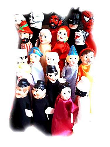 ricevi 1 marionetta a scelta artigianale burattino,Marionette 35 cm burattini per teatrino testa terracotta mani legno abiti tessuto PRESEPE ricevi portachiavi omaggio
