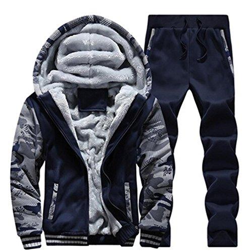 die, ღ ღ Herbst & Winter Warm Fleece Reißverschluss Jacke, Mantel Casual XX-Large Blau ()