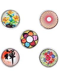 Morella señorías Click-Button Set 5 pcs botones flores y Pop Art multicolour