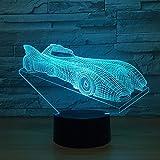Lámpara de Mesa Intermitente de luz Nocturna Modelo Illusion Racing como novedosa luz de Regalo y decoración de la habitación