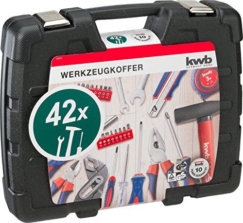 kwb Werkzeugkoffer 370731 (42-teiliger Inhalt, GS geprüft, ideal für den ambitionierten Hausgebrauch im praktischen Kunststoffkoffer) - 2