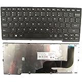 LotFancy Black US Layout keyboard With Black Frame For IBM Lenovo Ideapad S210 S210T S215 S215T S210-ITH S210T-CON S210T-ITH laptop NSK-BK1SN 01 NSK-BK1ST 01 25210861 9Z.N9ZSN.101 9Z.N9ZST.101 ST1V-US