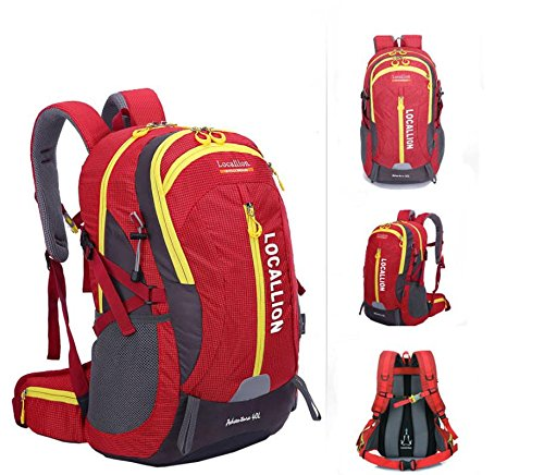 Outdoor-Bergsteigen Tasche große Kapazität Rucksack Rucksack Männer und Frauen zu Fuß wasserdicht Red