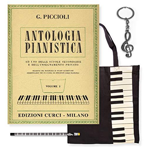 Piccioli - Pianististik (Vol. 1) Tasche und Bleistift Gifft ® Schlüsselanhänger aus Stahl in Form eines Violinschlüssel aus Omaggio