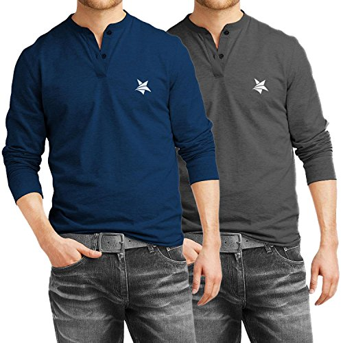 Jeans Men's Full Sleeve T Shirt Combo Pack from AALRYT (X-Large)