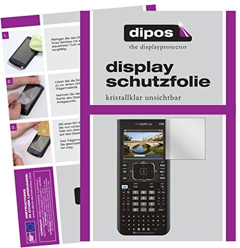 Texas Instruments TI Nspire CX CAS Taschenrechner Schutzfolie - 2x dipos Displayschutzfolie Folie klar