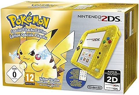 Console Nintendo 2DS - transparente jaune + Pokémon jaune pré-installé