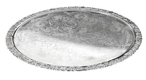 Queen Anne Sous-assiette plaqué argent Fini spécial résistant à la corrosion Ø 28cm