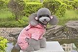 Generic Cute Pet Dog Soft Warm Coat Polka Dot Puppy Hoodie Clothes Jumpsuit Rose M