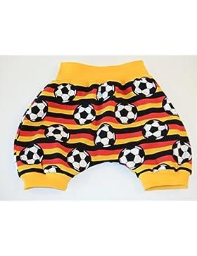 Kurze Pumphose Größe 86/92 Baby Hose Mitwachshose Motiv: Fussball