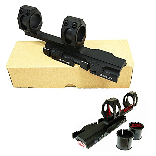 HWZ Hunting Scope Mounts 25.4mm 30mm Weaver Picatinny Rings Extended Cantilever QD Mounts Bases with Auto Lock Cantilever Mount