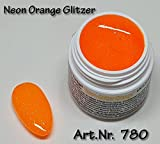 5ml UV Exclusiv Neon-Farbgel Orange Glitzer