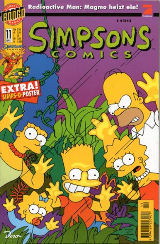 (SIMPSONS Comics # 11 - Radioactive Man: Magmo heizt ein! Comic inkl. Poster 1997 (Simpsons))