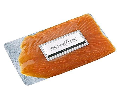 250g Nordland Lachs Ultrapremium Räucherlachs aus Schottland, geschnitten - feinster Lachs mild geräuchert und handfiletiert - Professioneller Kühlversand