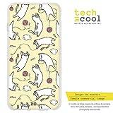 Funnytech® Funda Silicona para LG G5 [Gel Silicona Flexible, Diseño Exclusivo] Patron Gatitos ovillos Fondo Amarillo