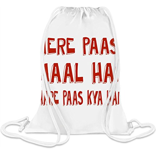 Mere Paas Einkaufszentrum Hai Tumhare Paas Kya Hai - Mere Paas Mall Hai Tumhare Paas Kya Hai Custom Printed Drawstring Sack 5 l 100% Soft Polyester A Stylish Bag For Everyday Activities
