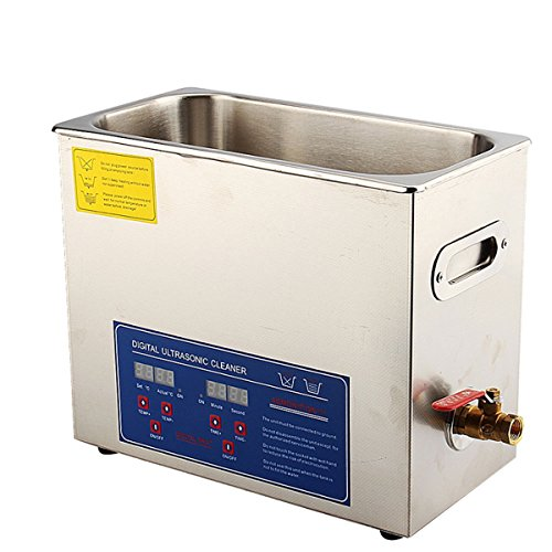 6L Digital Ultrasonic Cleaner, Yosoo in acciaio INOX ultra Sonic bagno pulizia Serbatoio con timer e riscaldante per gioielli/Household Commodities/GLASSES/coins/Metal Parts Cleaning