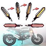 FEZZ Frecce Led Moto Universali Indicatori Di Direzione Moto LED frecce Moto Custom LED Ambra Rosso, Pack of 2