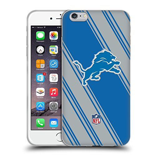 Ufficiale NFL Marmo 2017/18 Detroit Lions Cover Morbida In Gel Per Apple iPhone 6 / 6s Righe
