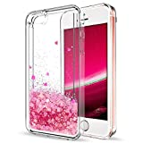 Mosoris Coque iPhone 5S Glitter Liquide Cover Mode 3D TPU Etui iPhone Se Etui Coque...