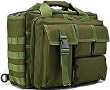 tacvasen al aire libre 15'Laptop Messenger Bag poliéster Molle táctico muiti-pocket impermeable bolso verde verde