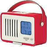 KitSound Swing Mini Radio FM Portable de Style Rétro avec Fonction Réveil - Rouge