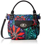 Desigual Bols_indian Galactic London Mini, Women's Bag, Multicolor (Azul Lovely), 1...