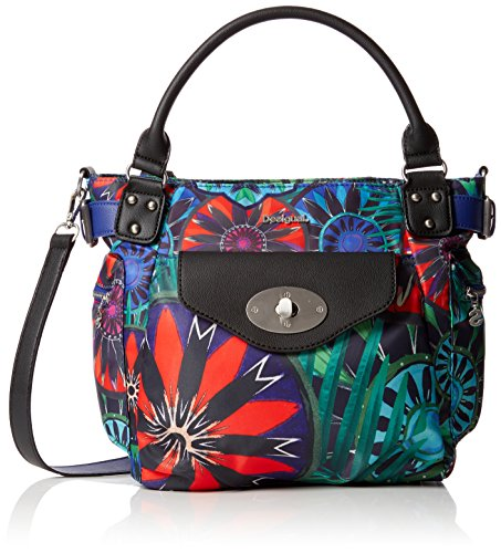 Desigual Bols_indian Galactic London Mini - Borsa Donna, Blau (Azul Lovely), 13x21x26.5 cm (B x H T)
