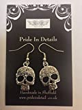 : Tibetan Silver Forrest Skull Earrings COMES WITH RETAIL PACKAGING CH117
