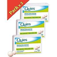 Quies - Ohrstöpsel für Gehörschutz mit natürlichem Wachs - 3 Schachteln mit 24 Kugeln preisvergleich bei billige-tabletten.eu