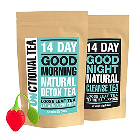 Functional Tea; 14 Day Detox and Cleanse Tea | 14 Day Supply | Loose Leaf Tea | Made in UK