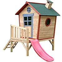 Big Game Hunters Redwood Tower Painted Wooden Playhouse - Children