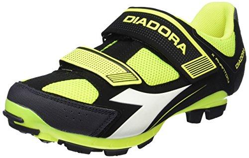 Diadora Unisex Adulto Preto X Fantasma Ii Sapatos De Ciclismo Btt (preto Fluo8071 / Amarelo)