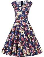 Belle Poque® Women's Sleeveless Sweetheart Neckline Vintage Swing Dress 6 Colors