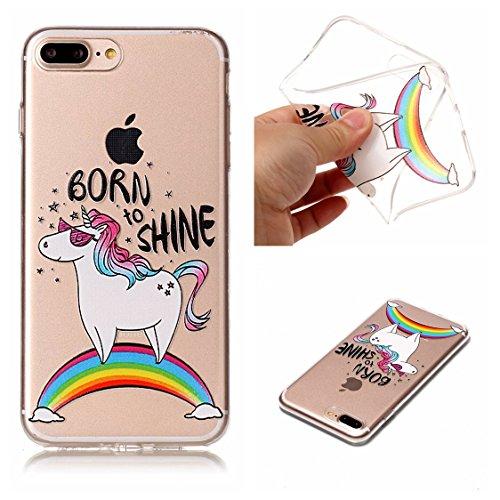 Apple iPhone 7 Plus 5.5 Hülle, Voguecase Schutzhülle / Case / Cover / Hülle / TPU Gel Skin (Schildkröte) + Gratis Universal Eingabestift BORN TO SHINE
