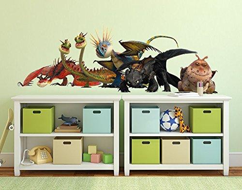 Preisvergleich Produktbild Wandtattoo Dragons Drachengruppe B x H: 100cm x 35cm von Klebefieber®