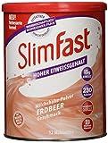 SlimFast Milchshake Pulver Erdbeere I Kalorienreduzierter Abnehm-Shake mit hohem Eiweißanteil I Diät-Pulver für eine gewichtskontrollierende...