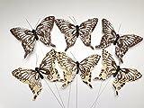 24x Schmetterlinge Hochzeit Taufe Geburt Shower Kommunion Konfirmation Ostern Frühling Bastelbedarf Basteln Deko