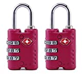 #3: Okayji Luggage Padlock Lock with 3-Digit Password Approved by TSA-007, 2 Pieces.
