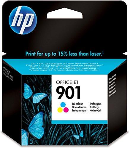 HP 901 Farbe Original Druckerpatrone für HP Officejet 4500, J4524, J4580, J4624, J4682