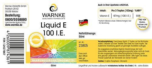Warnke Gesundheitsprodukte Liquid E 100 I.E. – 50ml – natürliches Vitamin E-Öl