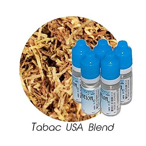 MA POTION - Lot de 5 E-Liquide TABAC USA Blend, Eliquide Français Ma Potion, recharge liquide cigarette électronique. Sans nicotine ni tabac