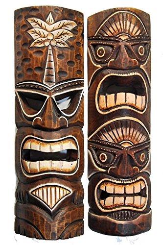 Tiki Style Hawaii Maske Holzmaske ()