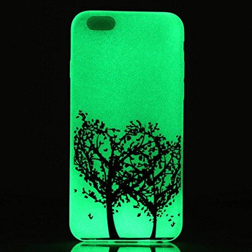 """iPhone 6s Plus Luminous Coque, MOONCASE iPhone 6 Plus Etui Noctilucent Back Coque Thin Fit TPU Housse Cover Case pour iPhone 6 Plus(2014) / 6s Plus(2015) 5.5"""" - YT09 Série Moonlight - YT11"""