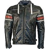 RICHA Toulon piel chaqueta con capucha – Chaqueta de Motorista