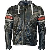 Richa Toulon Lederjacke mit Kapuze schwarz/rot 56 - Motorradjacke